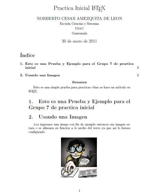 inicio de articulo en LaTeX